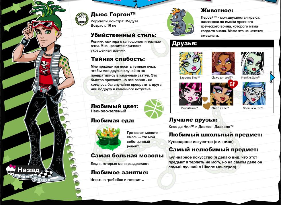 свободное анкеты монстер хай на русском картинки для